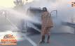 เพลิงลุกไหม้รถยนต์-รถบรรทุกพลิกคว่ำ