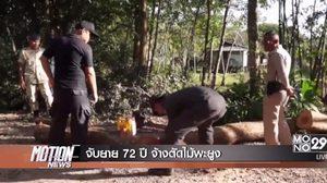 ตำรวจยึดไม้พะยูง 18 ท่อน หลังยาย 72 ปี จ้างชาวบ้านตัด อ้างไม่รู้ว่าต้องขออนุญาต