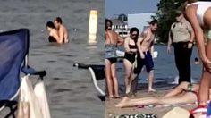 ทะเลสาบลุกเป็นไฟ คู่รักโนสนโนแคร์ มีเซ็กส์กลางทะเลสาบ ไม่อายเด็กเล็ก