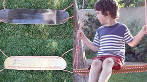 D.I.Y. ทำ ชิงช้า จาก สเก็ตบอร์ด อันเก่า ไว้ให้หนูน้อยนั่งเล่น