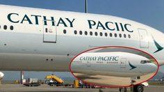 ตั้งใจหรือผิดจริง?? Cathay Pacific สะกดชื่อสายการบินตัวเองผิดบนเครื่องบินลำใหม่
