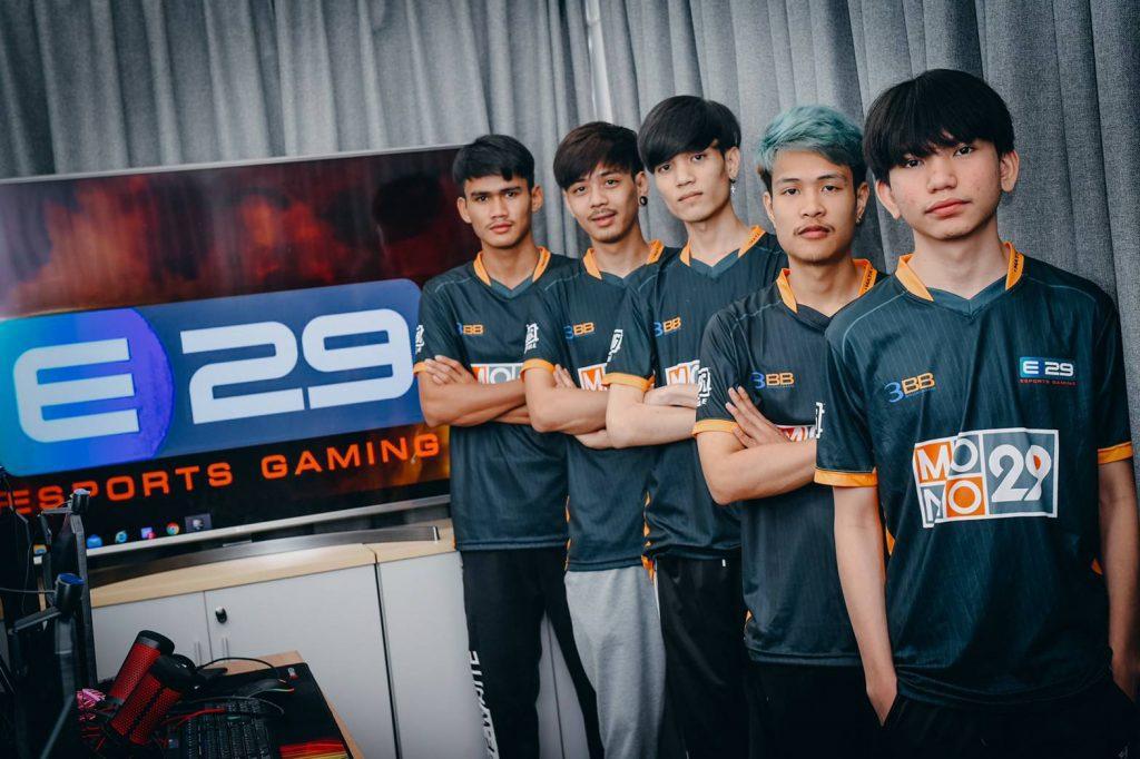 นักกีฬาของทีม E29 Esports Gaming