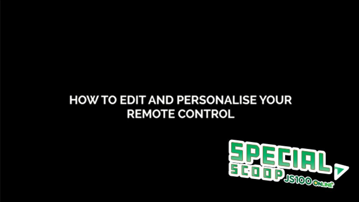 [Smart EGG] How to edit and personalise your remote control