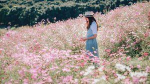 ยิ้มละไม ที่ สวนละไม จ.ระยอง ชมทุ่งคอสมอส อร่ามตาบนเนินเขา