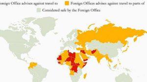 ประเทศไทยบางพื้นที่ ถูกอังกฤษประกาศเตือน นทท. ควรหลีกเลี่ยง