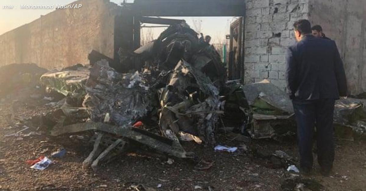 เครื่องบินยูเครนที่มีผู้โดยสาร 180 คนตกในอิหร่าน