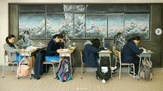 กระดานดำว่างเป็นไม่ได้ นักเรียนชาวฮ่องกง ขอโชว์วาดศิลปะจากปลายชอล์ค