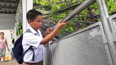 ผงะ! ไฟฟ้าดูดเด็กนักเรียนเนื้อหลุด หลังจับราวสะพานลอยปากทางพัทยากลาง