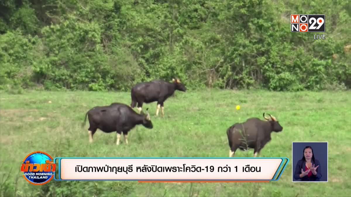 เปิดภาพป่ากุยบุรี หลังปิดเพราะโควิด-19 กว่า 1 เดือน