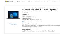 Microsoft ได้ถอดชื่อ Huawei Matebook ออกจาก Microsoft Store แล้ว