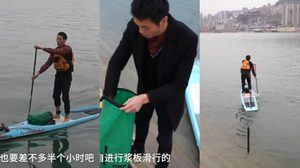 หนุ่มออฟฟิศหัวใส พายเรือไปทำงาน จากใช้เวลาเดินทาง 1 ชั่วโมง เหลือแค่ 6 นาที