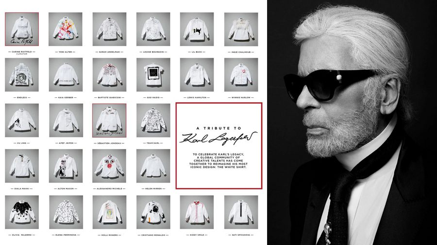 เหล่าเซเลบริตี้ ร่วมออกแบบเสื้อเชิ้ตสีขาว เพื่อระลึงถึง Karl Lagerfeld สุดยอดแฟชั่นดีไซน์เนอร์ผู้ล่วงลับ