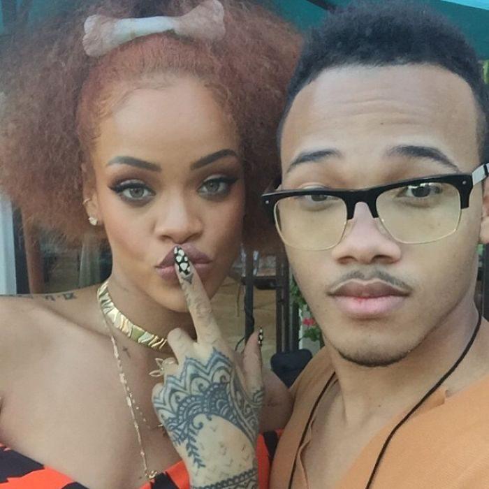 Rihanna กับน้องชาย Rajad Fenty