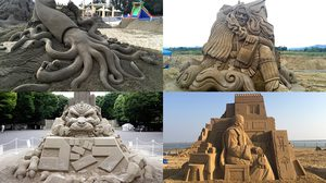 สุดยอดงานประติมากรรมจาก ทราย โดยศิลปินชาวญี่ปุ่น Toshihiko Hosaka