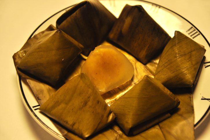 The Tradition Thai Dessert Banana leaf wrap,sweet dessert Thai