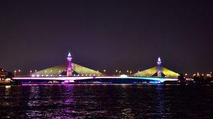 กรมทางหลวงชนบทเปิดไฟประดับ 13 สะพานแม่น้ำเจ้าพระยา