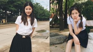 สวยสดใส เอสเธอร์ สุปรีย์ลีลา ในชุดนักศึกษาม.กรุงเทพธนบุรี