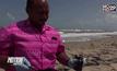 ตรวจสอบก้อนน้ำมันตามแนวชายหาด จ.สงขลา