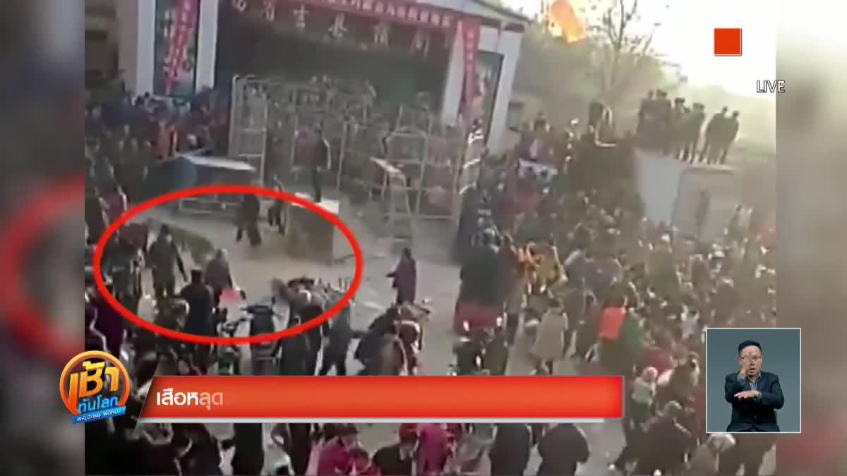 เสือหลุดจากกรงขณะแสดงละครสัตว์ในจีน