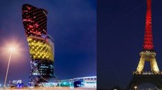 แลนด์มาร์คทั่วโลก พร้อมใจประดับแสงไฟเป็นธงชาติ เบลเยียม
