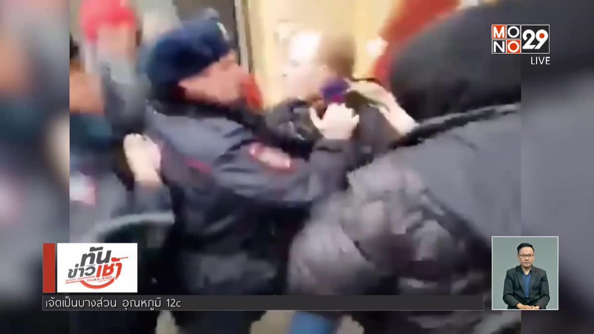 ตำรวจบุกจับกุมตัวแกนนำฝ่ายค้านรัสเซีย