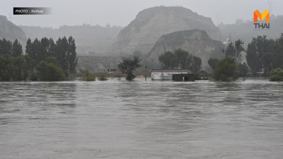ชาวจีน 1.2 แสนชีวิต อพยพหนีน้ำท่วมใหญ่ในซานซี