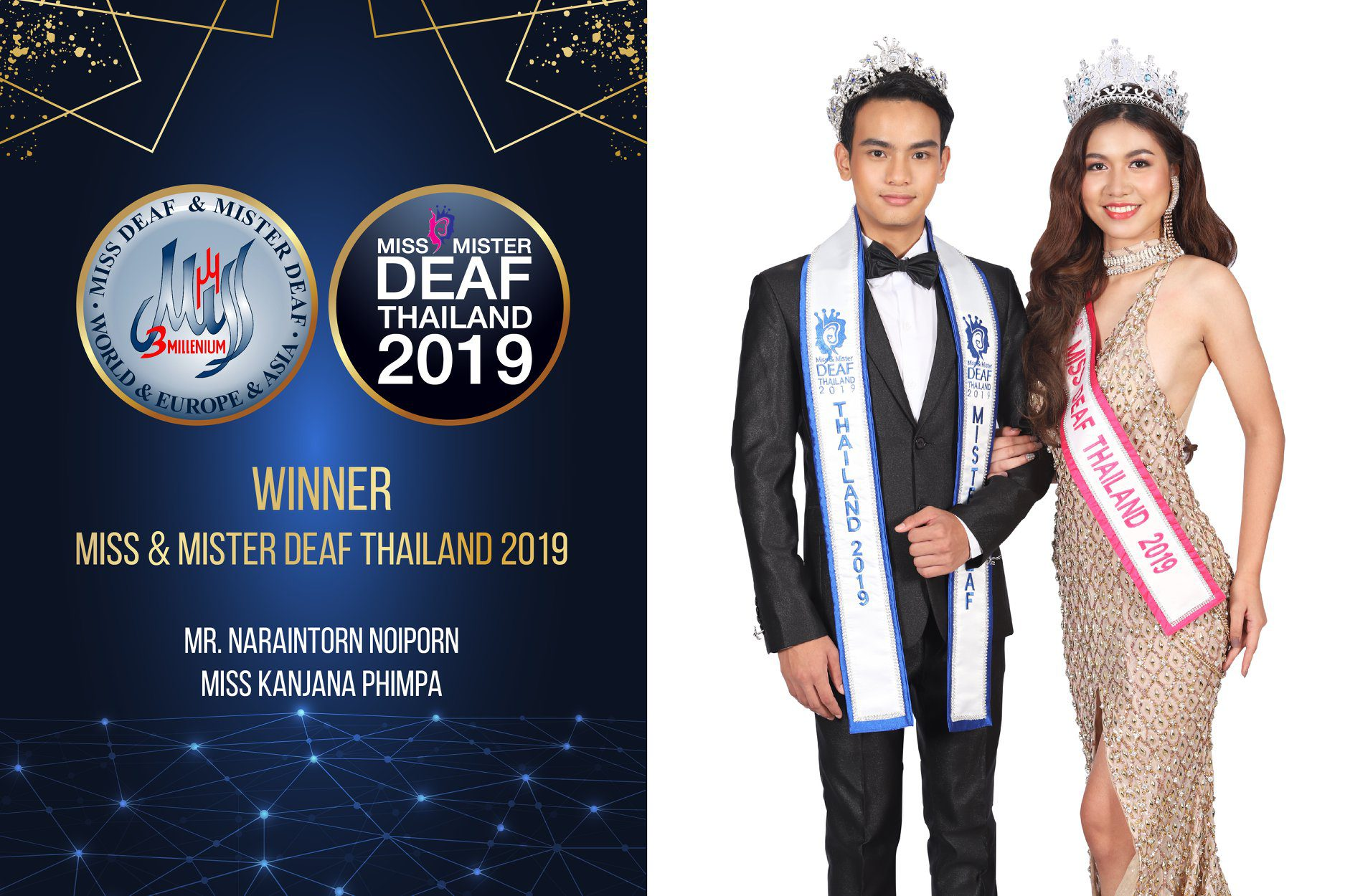 """เปิดเวทีความเท่าเทียม """"Miss & Mister Deaf Thailand 2019"""" และ """"Miss Deaf Queen Thailand 2019"""""""