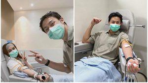 หมาก-คิม จูงมือ บริจาคเลือด ณ ศูนย์การค้า ดิ เอ็มโพเรียม