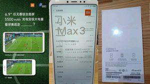 หลุดสเปคจริง Xiaomi Mi Max 3 รุ่นจอใหญ่ 6.9 นิ้ว แบต 5500mAh ก่อนวันเปิดตัว