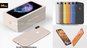 ภาพดีไซน์คอนเซปต์ iPhone Xs Plus พร้อมกล่อง และ iPhone 2018 หลากสี