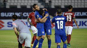 ผลบอล: มุ้ยแฮตทริค! ทีมชาติไทย มีหืดโดนตีเจ๊าก่อนชนะ อินโดนีเซีย 4-2 เปิดสนาม ซูซูกิ คัพ