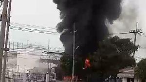 ด่วน!รถน้ำมันระเบิดในนิคมฯอมตะนคร