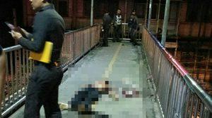 นักเรียนช่าง ถูกอริแทงเสียชีวิต คาสะพานลอยย่านบางพลัด