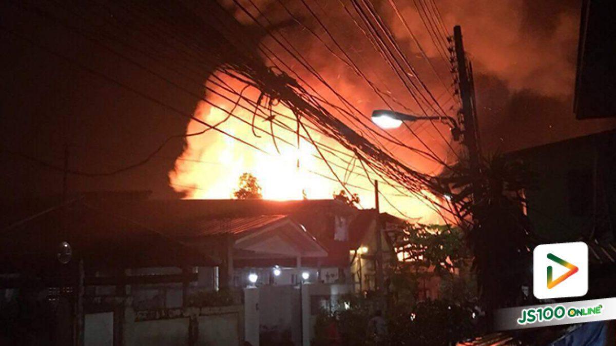 ไฟไหม้บ้านเรือนประชาชน ภายในซ.อดิเรก พื้นที่บางปลาสร้อย อ.เมือง จ.ชลบุรี