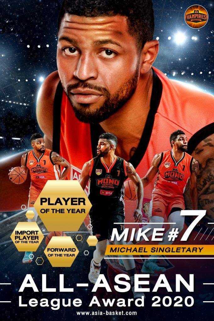 รางวัล Player of the Year ผู้เล่นยอดเยี่ยมแห่งปี ได้แก่ ไมเคิล ซิงเกลทารี่