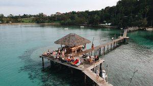 5 ที่พักมีสะพานไม้ยื่นลงทะเล นั่งห้อยขา ดูปลา ตากลม