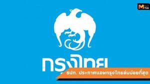 """อันดับแอพธนาคารที่ล่มบ่อยที่สุด… """"กรุงไทย"""" ติดโผในรายชื่อเป็นอันดับ 1"""