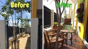 รีวิว แต่งสวนข้างบ้าน ทาวน์โฮมด้วยตัวเองงบไม่เกิน 20,000 บาท