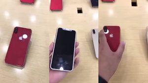 หลุดภาพ iPhone X สีแดง!! วางอยู่ในร้านมือถือแห่งหนึ่งในประเทศจีน