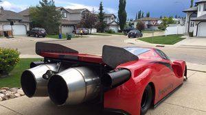 บ้าจริง!!!…หนุ่มแคนาเดียน สร้าง Enzo Ferrari ติดเครื่องเจ็ท