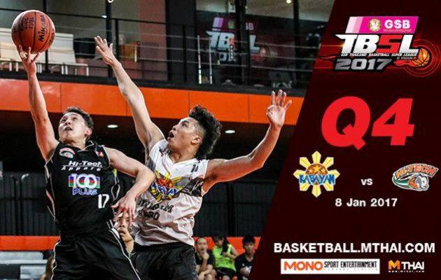 การแข่งขันบาสเกตบอล TBSL2017 คู่ที่5 Kabayan (Philippin) VS Hitech Q4 8/01/60