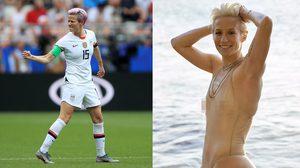 ส่อง เมแกน ราปิโน กัปตันทีมสาวสหรัฐฯ ถ่ายแบบวาบหวิวในชุดว่ายน้ำบางเฉียบ