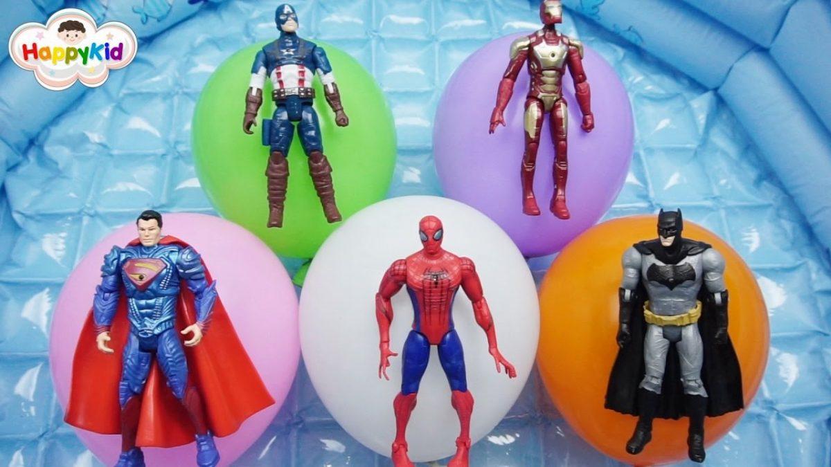 เพลงนิ้วโป้งอยู่ไหน #9 | เจาะลูกโป่งซุปเปอร์ฮีโร่ | เรียนรู้สี | Learn Color With Super Hero Balloon