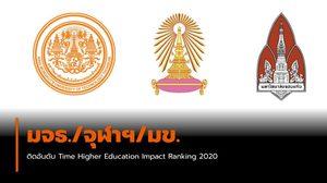 มจธ./จุฬาฯ/มข. นำมหาลัยไทยติดอันดับ Time Higher Education Impact Ranking 2020