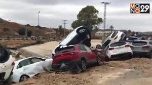 เกิดเหตุน้ำท่วมรุนแรงในสเปน