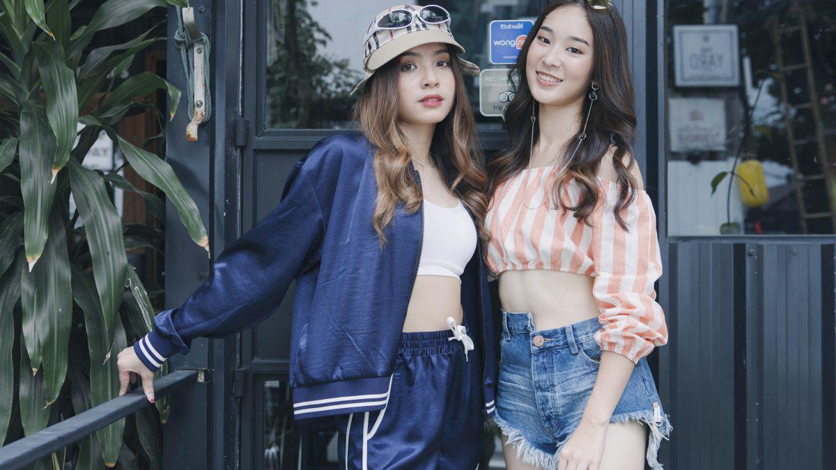 """สองสาว สองสไตล์ """"แองจี้-ฐิติชา และ ว่าน-พิรัลพัชร"""" นางแบบปก Campus Star No.75"""