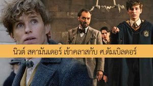นิวต์ สคามันเดอร์ เข้าคลาสกับ ศ. ดัมเบิลดอร์ ในภาพล่าสุด The Crimes of Grindelwald