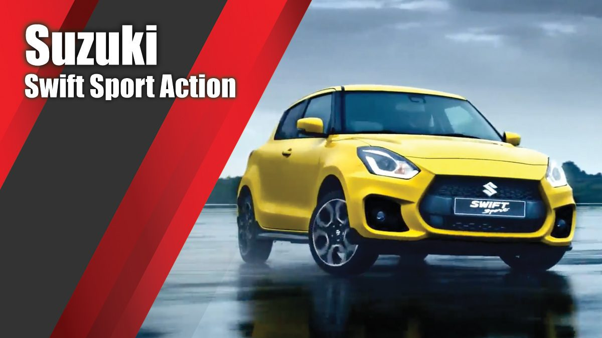 The new Suzuki Swift Sport Action Trailer