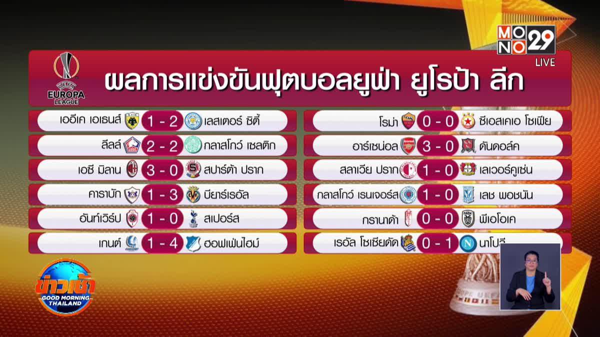 ผลการแข่งขันฟุตบอลยูฟ่า ยูโรป้า ลีก 30-10-63