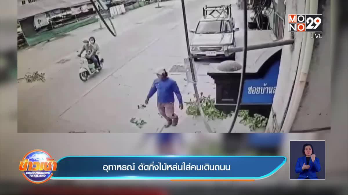 อุทาหรณ์ ตัดกิ่งไม้หล่นใส่คนเดินถนน